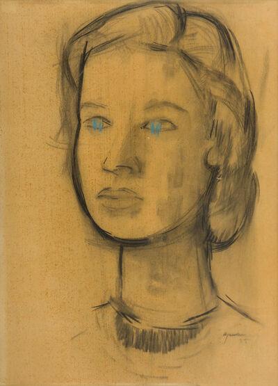 Giuseppe Ajmone, 'A woman's face', 1955