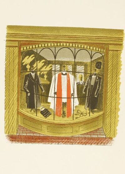 Eric Ravilious, ''CLERICAL OUTFITTER'', c.1938