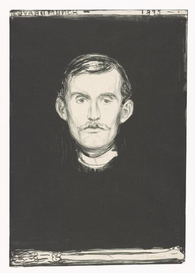 Edvard Munch, 'Self-Portrait', 1895