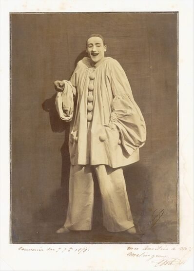 Adrien Tournachon, 'Pierrot Laughing', 1855