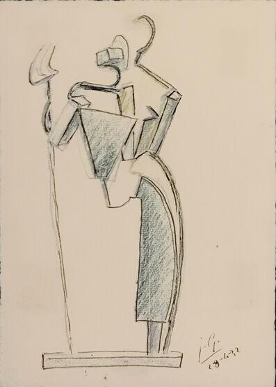 Julio González, 'Deux Paysannes à la fourche nº 3', 1932