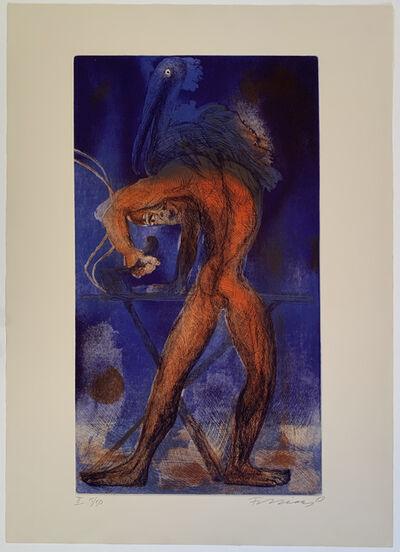 Rainer Fetting, 'Man and bird II', ca. 1988