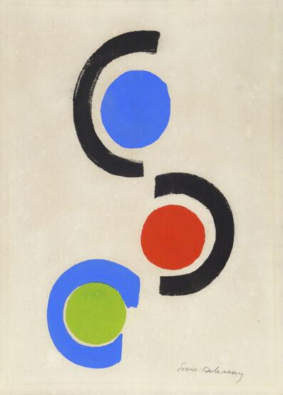 Sonia Delaunay, 'Rhythmes - Couleurs. Cercles et Demi-Cercles', 1966