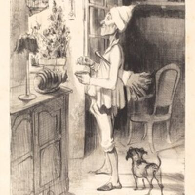 Honoré Daumier, '8 heures du matin', 1839
