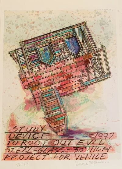 Dennis Oppenheim, 'Study | Device to Root Out Evil | 1997 | Steel - Glass | 30' High | Project for Venice', 2001