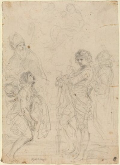 Guercino, 'Madonna and Child with Saints Gimignano, John the Baptist, George and Peter Martyr'