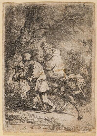 Rembrandt van Rijn, 'The Flight into Egypt: Small Plate', 1633