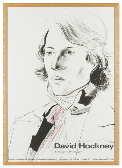 David Hockney, 'Poster for the Staatliche Graphische Sammlung, Munich', 1977