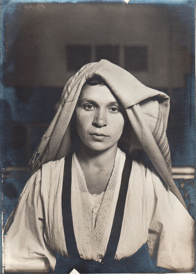 Lewis Wickes Hine, 'Slavic Woman with Shawl', 1905 c. / Print date: Later