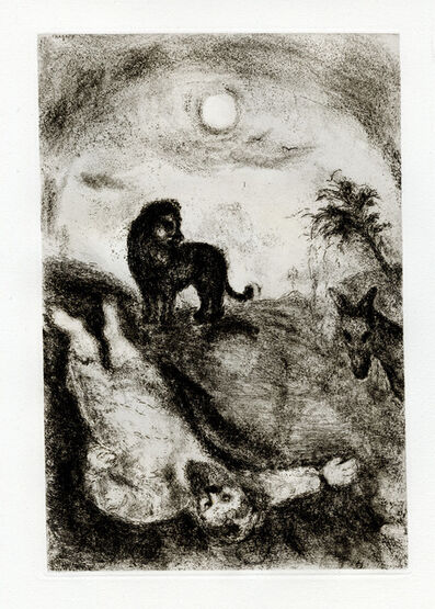 Marc Chagall, 'Prophète Tué par un Lion (A Prophet Killed by a Lion)', 1956