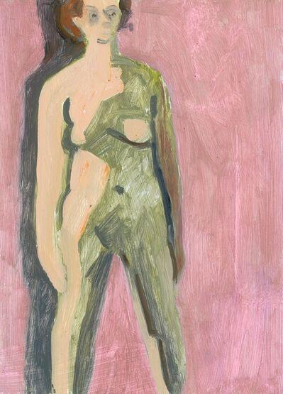 Lois Dodd, 'Standing Nude', 2018