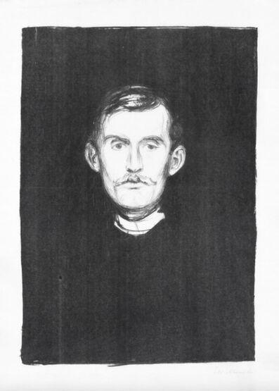 Edvard Munch, 'Self Portrait (Selvportrett) Gerd Woll, III, Nr. 37; Schiefler 32', 1895
