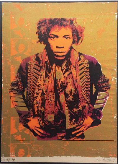 Gered Mankowitz, 'Jimi Hendrix: Purple & Gold'