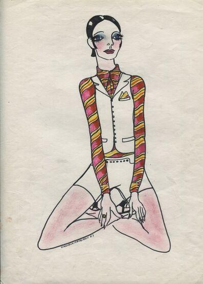 Delia Cancela, 'Chica pelo negro y chaleco', 1967