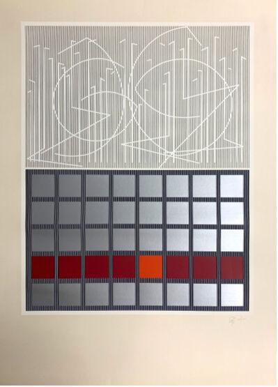 Jesús Rafael Soto, 'Naranja y plata. Serie Bicentenaria', 1982