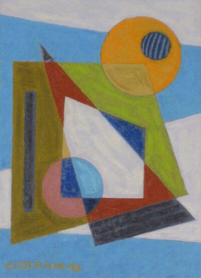 """Emil Bisttram, '""""Abstract Geometric"""" WPA Transcendental Art Modern Non Objective Abstraction 1943', 1943"""