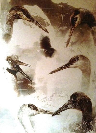 James Griffith, 'Sand Hill Crane Studies', 2016