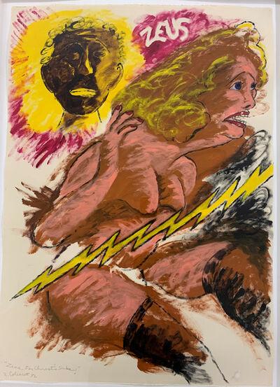 Robert Colescott, 'Zeus! for Christ's Sake!', 1992