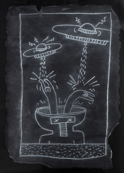 Keith Haring, 'Subway drawing', Non daté