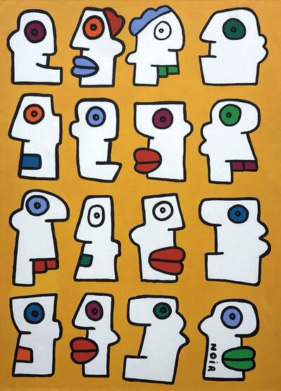 Thierry Noir, 'The Oxford Circus Yellow Manifest', 2016
