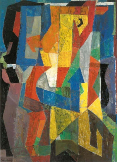 "James Daugherty, '""Tensions"" Mid-Century Abstract, Large, Non-Objective Color Field oil painting 1957', 1957"