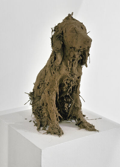 Nicola Hicks, '40. Wet Dog. Artist's Plaster and straw original. This piece will be cast in bronze', 2010