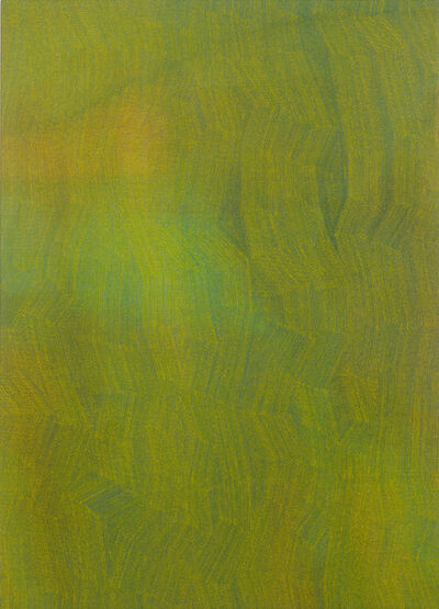 Karl Wiebke, '50-17 Yellow on Mixed Greens', 2017
