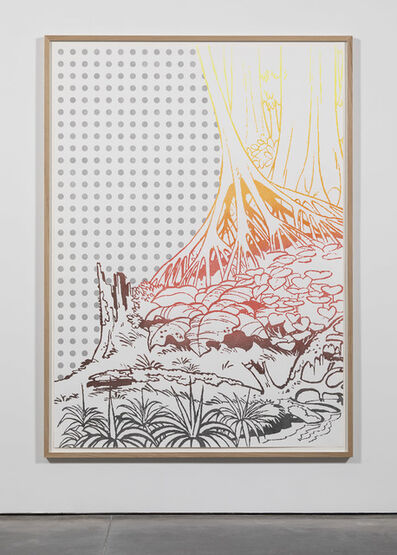 Claudia Comte, 'Descend on the City (dot/jungle drawing)', 2020