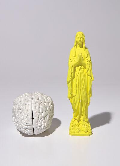 Katharina Fritsch, 'Madonnenfigur (Madonna Figure); and Gehirn (Brain)', 1982 and 1987-89