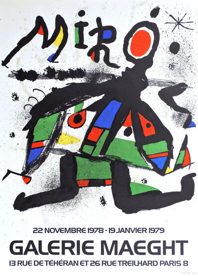Joan Miró, 'Artist poster for Galerie Maeght', 1979