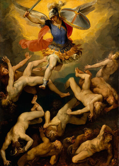 Giuseppe Cesari, called Cavaliere d'Arpino, 'Archangel Michael and the Rebel Angels', ca. 1592