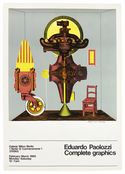 Eduardo Paolozzi, 'Galerie Mikro (Metaphysical Translations) 1969 SIGNED poster', ca. 1969