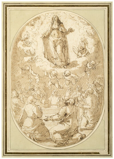 Giovanni Battista Paggi, 'The Assumption of the Virgin', 1593-1596