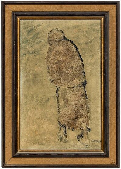 Ivan Kurach, 'Untitled, Lonely Figure. Italian Expressionist', Mid-20th Century