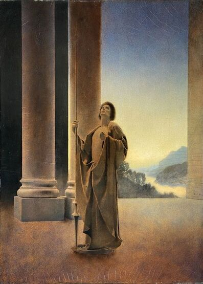 Maxfield Parrish, 'Virgil at Arms', 1904
