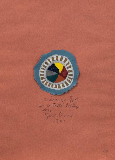 Jim Dine, 'A design for an artist's badge', 1961