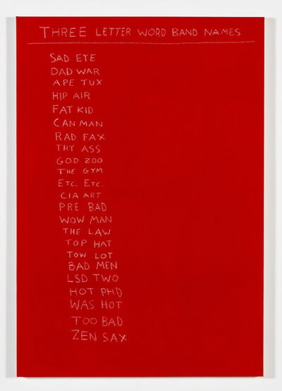 Scott Reeder, 'Three Letter Word Band Names', 2014
