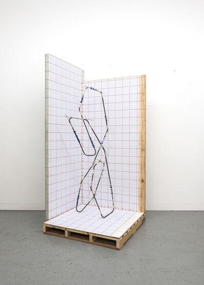 Kyle Morland, 'Mandrel Sculpture 4 Maquette in coordinate plotting booth', 2018