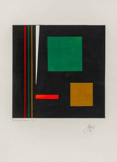Juan Melé, 'Le carré percé 413', 1992