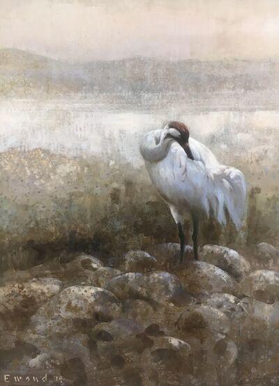 Ewoud De Groot, 'Preening Crane', 2017