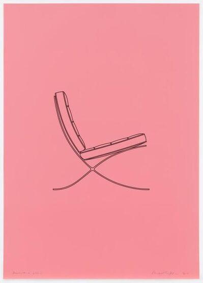 Michael Craig-Martin, 'Barcelona chair', 2017