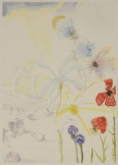 Salvador Dalí, 'Ship and Flowers', 1986