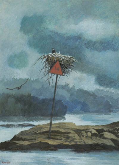 Anne Lyman Powers, 'The Osprey Nest on Daybeacon 14', ca. 1992