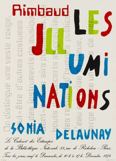 Sonia Delaunay, 'A poster for Rimbaud Les Illuminations', 1974