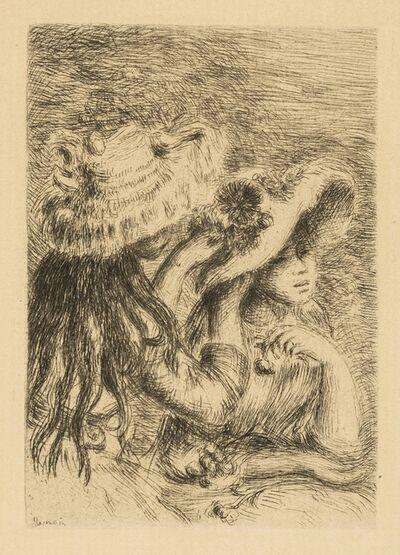 Pierre-Auguste Renoir, 'Three Etchings (Sur la plage, à Berneval; Le chapeau épinglé (La fille de Berthe Morisot et sa cousine); Baigneuse debout, a mi-jambes) (Stella 5[iii], 8[ii], 23)', circa 1892-1910