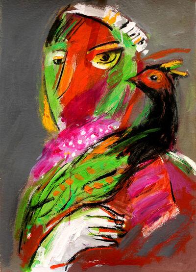 Mohamed Saleh Khalil, 'Man with a Bird', 2016