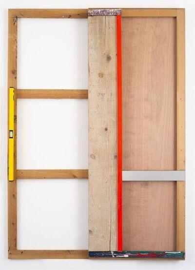 Daniel Dezeuze, 'Fausse porte avec zip', 2018