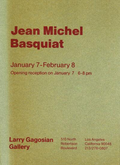 Jean-Michel Basquiat, 'Vintage 1980s Basquiat announcement (Basquiat at Gagosian, Los Angeles) ', 1986