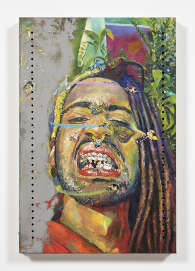 Yung Jake, 'Untitled Self-Portrait 3 (blossom, ed, bubbles, dee dee, richard watterson, jake, finn, onion, johnny bravo, jack and buttercup)', 2020