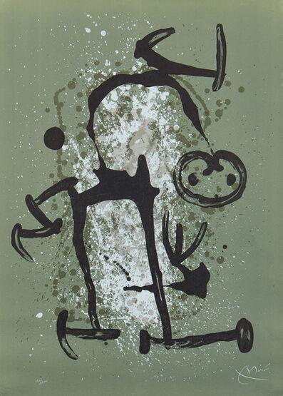 Joan Miró, 'L'Illettre vert (The Illiterate - Green) (M. 620)', 1969